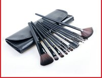 Wholesale Makeup Brushes Pure Hair - Simple and pure color exquisite luxury beauty tools brush package comfortable bristles 12 makeup brush suit