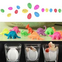 Wholesale Eggs For Hatching - Wholesale-1PCS Children Kids Cute Magic Water Growing Egg Hatching Colorful Dinosaur Add Crack Grow Egg Toy For Boy
