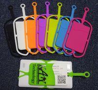 ingrosso cinghia della collana del keychain-FedEx 2017 personalizzato LOGO Silicone Cordini Neck Strap Collana Sling Card Holder Strap portachiavi per cellulare universale