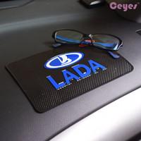 Wholesale Glue For Car Interior - New style mat Interior accessories Non-slip mat case for LADA niva kalina priora granta largus vaz Anti-mat Car Embles Accessories Styling
