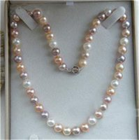 Wholesale Multicolor Cultured Pearl Necklace - 8-9mm Natural Multicolor Akoya Cultured Pearl Necklace