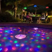 аквариумное освещение оптовых-Wholesale- LED Pool Light Waterproof Underwater Light Color Changing Swimming Pool Lights Fish Tank Aquarium LED Light