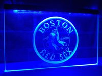 Wholesale Red Sox Light Sign - LD113B- Boston Red Sox Baseball Bar LED Neon Light Signs