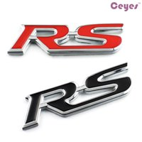 Wholesale Rs4 Badge - Auto 3D Metal Stickers RS Car Emblems Badge for audi nissan jeep bmw mercedes toyota skoda lancia Car Styling Stickers