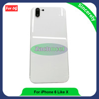 Wholesale Iphone Like Phone - For iPhone 6 like X Style Back Housing 4.7 inch High Quality Assembly Repair Parts Rear Back Cover Mobile Phone Battery Door