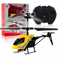 Vente en gros - 2CH Mini RC Helicopter Remote Control Radio Aircraft Electric Micro 2 Channel