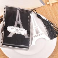 favores de aço inoxidável venda por atacado-Bookmarks de metal sliver presente Borlas de Aço Inoxidável Torre Eiffel Marcadores bookmark bookmark Favores Do Casamento bom presente Bookmark para Livros