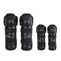Wholesale Motorcycle Shin Guards - Wholesale- 4pcs set Sports Adult Elbow Knee Shin Armor Geer Guard Pads Protector for Bike Motorcycle Motorbike Bike Racing Skating