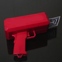 Wholesale Super Money Gun The Cash Cannon With Props Money Red Color Best Gift Toys For Kids and Adults