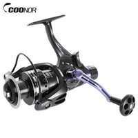 Wholesale collapsible fishing - COONOR 4.7:1 Metal Spool Spinning Fishing Reel 11 + 1 Ball Bearings Left Right Interchangeable Collapsible CNC Handle +B