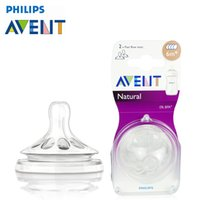 Wholesale Clear Pacifiers - Wholesale-AVENT 2pcs High Quality Infant Silicone Pacifiers Non-Toxic Safe Baby Nipples Teat Soft Simple Clear Transparent Feeding Tool