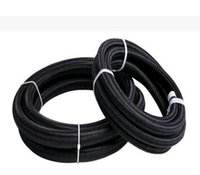 Wholesale braided fuel hose - 3pcs NYLON BRAID 16an an16 an-16 braided hose fitting transmission oil cooler kits fuel oil hose 3 meter