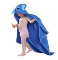 Wholesale Toddler Animal Towels - 2017 baby Kids Robes 5 colors Spring Animal Towels Toddler Cartoon Pattern Bath Towel Swaddle Blanket