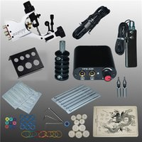 Wholesale Complete Machine Tools - Professional 1 Set 90-264V Complete Equipment Tattoo Machine Gun Power Supply Cord Kit Body Beauty DIY Tools 1001313Kit