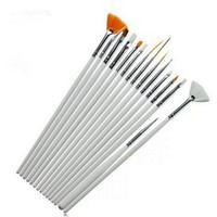 Wholesale Korea Nail - Europe and South Korea selling hot spot 15 nail painting pen white pink Makeup Brush Set