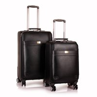 Wholesale cheap high class PU couple fashion travel business leisure luggage suitcase
