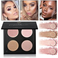 4 цвета Профессиональная коррекция лица Brighten Highlighter Palette Minerals Cream Bronzer Highlighters Contouring Makeup Palette