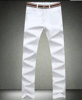 Wholesale New Stylish Clothes For Men - Wholesale- 2015 New Men Pants Fashion Simple Spring Casual Cotton Plus Size White Pants For Man Stylish Super Comfortable Men's Clothing