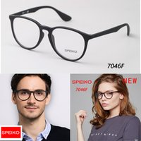 Wholesale Spectacle Frame Round - SPEIKO 7046F Round Eyewear frame for male and female Retro spectacle frame optical eyeglasses frame Providing pescription lenses with case