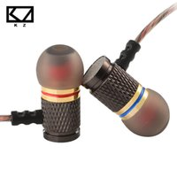 Wholesale gold plated phone housing - KZ ED Special Edition Gold Plated Housing Earphone with Microphone 3.5mm HD HiFi In Ear Monitor Bass Stereo Earbuds for Phone