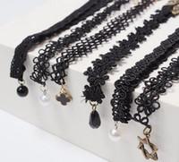 Wholesale Lace Necklace Child - 2017 New cartoon Girl Bud silk flowers necklace choker Children kids jewelry childrens jewelry 10