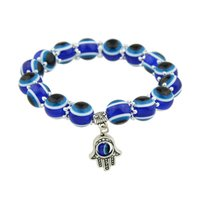 Wholesale Blue Bead Bangle Bracelets - Hand Pendant Decoration Blue Color Beads Bracelet Pulseiras for Women Bracelets and Bangles Boho Jewelry