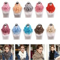 Wholesale Womens Infinity Scarfs - 2016 fashion warm scarf winter knitted scarves Womens Layered Fringe Tassel Neck Circle scarfs Shawl Girl Solid Infinity Wraps wholesale