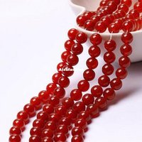 achatpreise groihandel-Fashion Trendy 8mm Natürliche Rote Runde Lose Perlen Jade 15