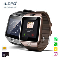 Wholesale Pets Cameras - phone smart watch DZ09 1.54 inch display 1.3mp HD camera pedometer smart wrist watch for all android smart phones