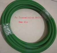 Wholesale 8mm Dia Rough Surface Polyurethane PU Round Transmission Belts about m