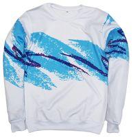 Wholesale Jazz Neck - Wholesale-Unisex 3D sweatshirt men women suits harajuku hoodies 90s Jazz Solo Paper Cup crewneck sweatshirt fashion clothing plus size