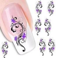 Wholesale Professional Nail Art Decals Wholesale - Wholesale- Stylish Hot 1Pcs Professional Water Transfer Slide Decal Sticker Nail Art Tips Toe Decoration for Nail artificial beauty Tools