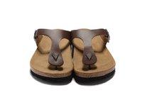 pantoufles sandales achat en gros de-2017 Hot New Marque Célèbre Marque Arizona Hommes Sandales Plates Femmes Casual Chaussures Mâle Boucle D'été Plage Véritable Pantoufles En Cuir Tongs Matt