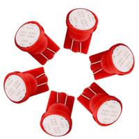 ledli araç ampulleri toptan satış-50 adet Araç 194 T10 CW1 LED Ampuller Kırmızı 8 K 1 W 2825 W5W 168 Kama Lisansı Harita