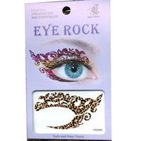Wholesale Eye Tattoo Transfer Makeup - Free shipping 12pieces mix design double Eye Tattoo Sticker waterproof transfer temporary Makeup ladys face shadower tattoo sticker