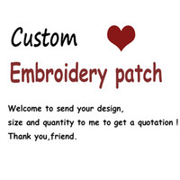 Wholesale Cute Kinds - Custom Patch DIY All Kind Of Iron On Patches For Clothes Stickers Custom Embroidered Cute Patches Applique