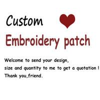 mignons patchs brodés achat en gros de-Top qualité patch personnalisé bricolage toutes sortes de fer sur des patchs pour vêtements autocollants brodé personnalisé mignon patchs appliques