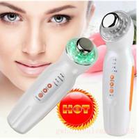 led massage facial achat en gros de-Massage facial à la peau ultrasonique de couleur de la lumière LED de photon de rajeunissement 3MHz anti age # R410