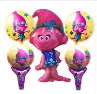 Décoration Pour Fête D'anniversaire Pour Enfants Pas Cher-Trolls Balloon Toys Birthday Party Foil Ballons Cartoon Globos Children Inflatable Decorations Kids Event Party Supplies 3 Styles