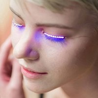 LED Light para cílios falsos Luminous Eyes Party Nightclub Moda Halloween LED Etiqueta das máscaras falsas Postado 3D LED False Eyelashes