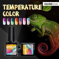 Wholesale Color Changing Gel Nail Polish - Wholesale-Modelones 10ml Chameleon Temperature Changing Color Nail gel polish 21 colors UV gel Soak-off UV gel polish varnish