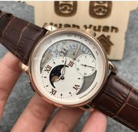 Wholesale Imported Roses - 2017 the latest men's Rose Gold Multi function automatic mechanical men's watches, casual leisure milk noodles imported calf+Free shipping