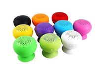 Wholesale apple mini computer - BY DHL Mini Wireless Bluetooth Speaker Mushroom Waterproof Silicone Sucker Hand Free Speakers with Mic For Apple & Android phone PC Computer