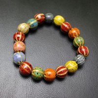 Wholesale Ceramic Watermelon - Fashion Colorful Ceramic Watermelon Shape Beads Charm Bracelet Beaded, Strands For Man Women Couple Lovers Christmas Gift Present Low Price