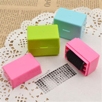 Wholesale Security Id - 1PCS Security Hide ID Garbled Self-Inking Rubber Stamp Protect Identity Theft Sticks