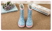 Wholesale Child boots girls thick warm children plus velvet water shoes slip boots Princess Baby boots four students