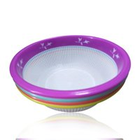 Wholesale Rice Wash - Super practical Creative fashion Plastic wash rice Colander kitchen plastic drain vegatable basket multiple Colour Environmental protection