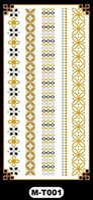 Wholesale Hand Arm Jewelry - Flash tattoo metallic tattoos Jewelry Tattoo design temporary tattoo sticker