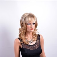 Wholesale Light Blonde Curly Wig Cosplay - MelodySusie Cosplay Blonde Curly Wig - Gorgeous Women Long Curly Wig with Free Wig Cap and Comb (Light Blonde) Mixed hair beautiful kabell