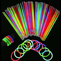 Wholesale Glow Dark Silicone Bracelets - Wholesale- 50pcs Glow In Dark Wristbands Armband Flash Motion Fluorescent Bracelets Safe Movement Luminous Hand Christmas Party Accessory